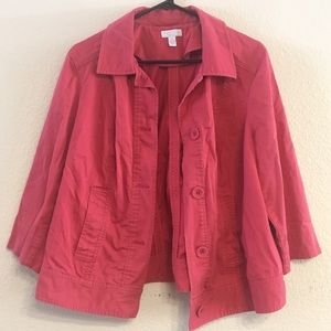 Charter Club Casual Spring Jacket in Pink